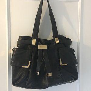 Michael Kors Black Leather Shoulder Satchel Bag